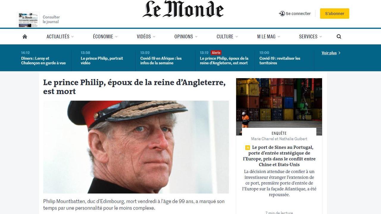 France's Le Monde said Prince Philip had a 'complex personality'.