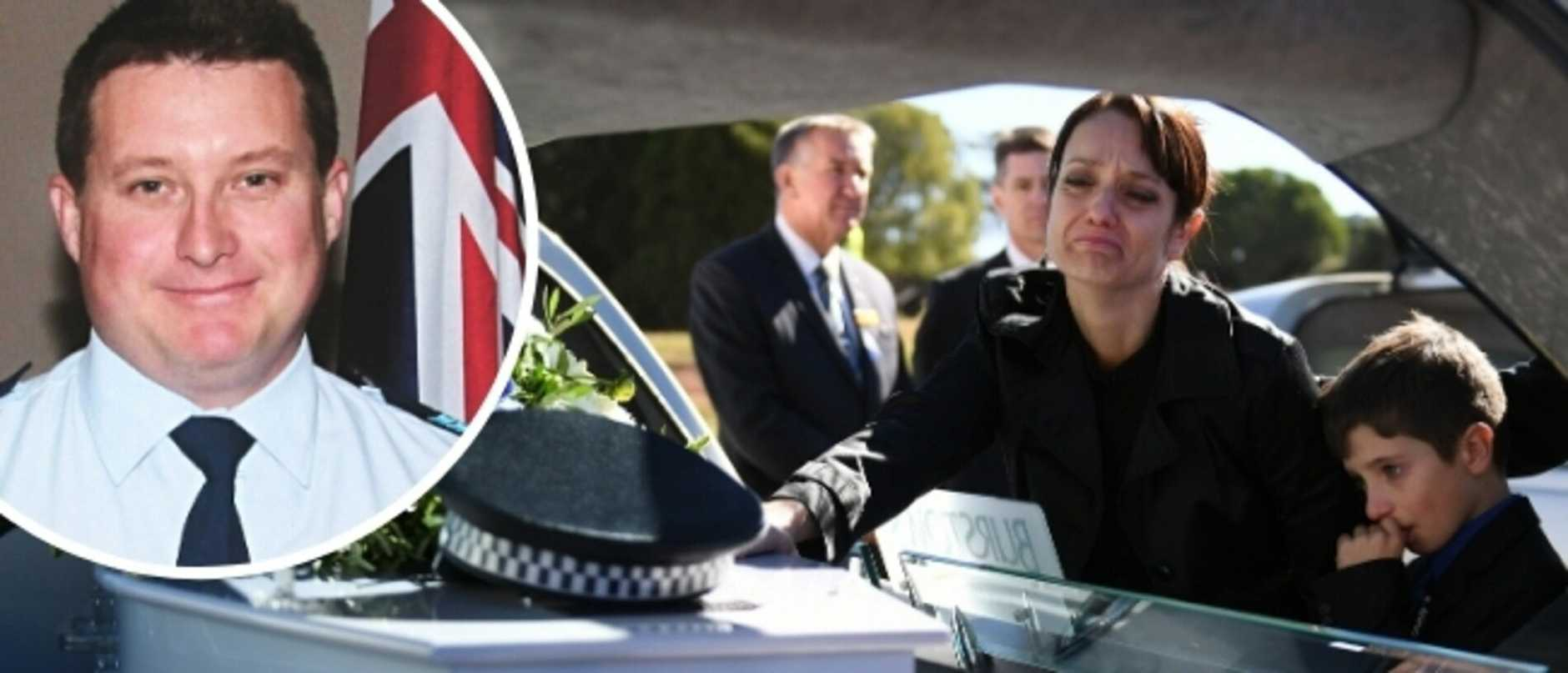 Slain police hero Brett Forte's grieving widow Susan Forte has revealed how she was harassed by strangers in the wake of her husband's killing.