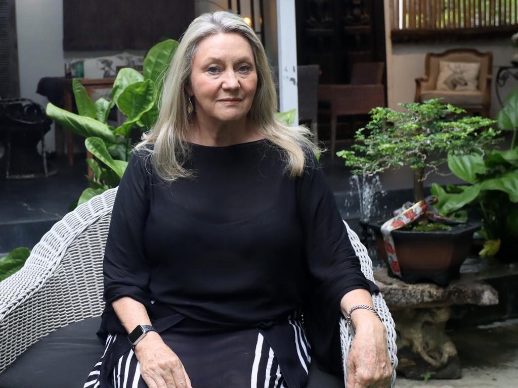 Australian Margaret Barry has had the AstraZeneca vaccine in Bali. Picture. Lukman S. Bintoro