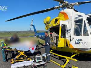Rescue chopper tasked to Bruce Highway crash involving child
