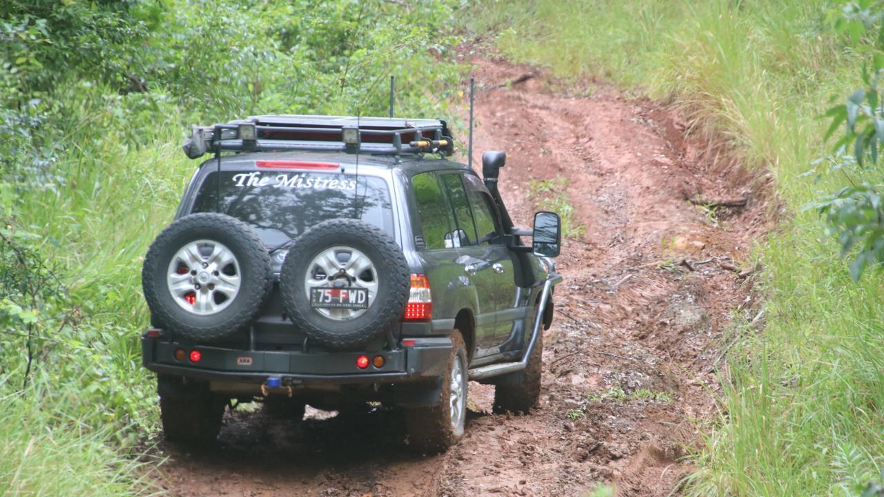 BUNDABERG 4WD CLUB: Brad Newth tackling the slippery track.