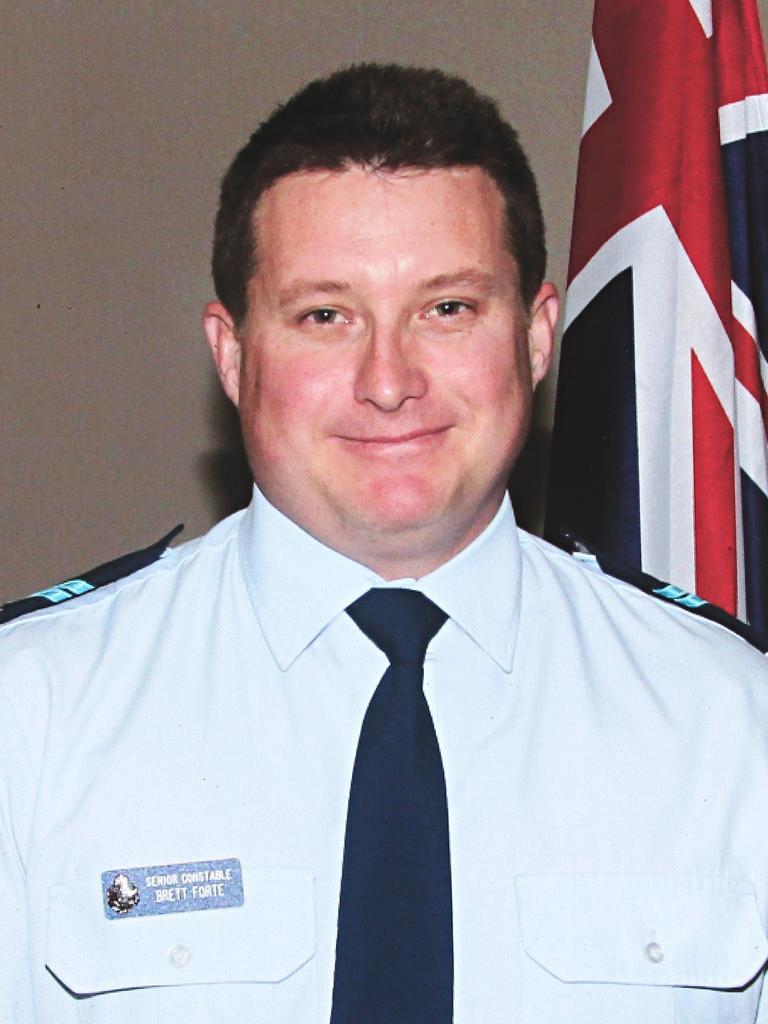 Senior Constable Brett Forte was killed on duty in 2017.