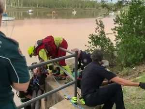 Woman rescued from drain