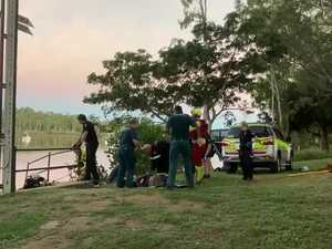 Rescue of woman from Fitzroy River drain in Rockhampton