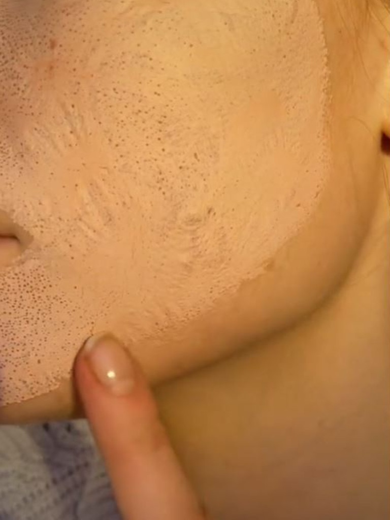 A video showing the results of a pink clay mask went viral on TikTok recently. Picture: TikTok/LookFantastic