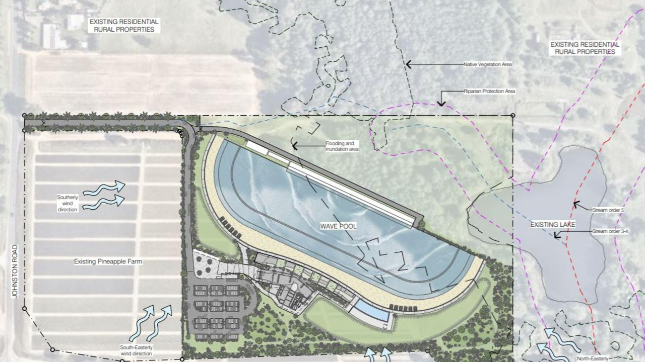 A surf park with American Wave Machines technology has been proposed for the Glass House Mountains.