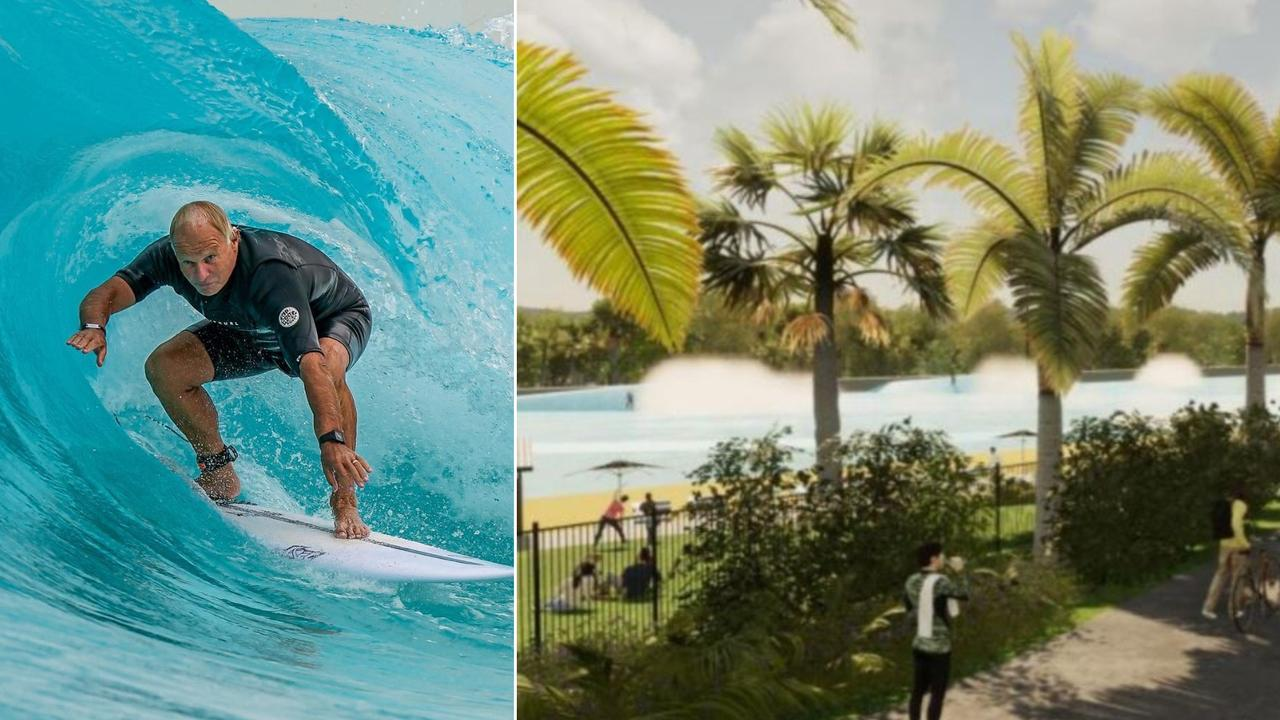 Alex Surf Shop owner Neil Raaschou pictured recently at URBNSURF Melbourne. An application has been lodged with Sunshine Coast Council for a wave pool at Glass House Mountains.