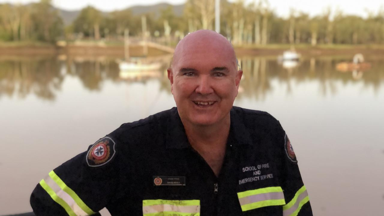QFES station Officer David Sealy at the scene.