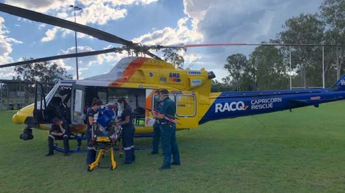 Chopper called to airlift Gladstone region man to hospital