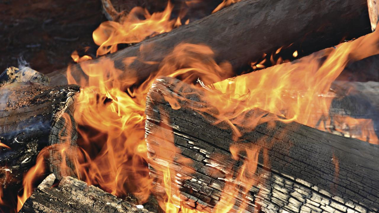 A man was treated for multiple burns in Palmwoods on Sunday morning.