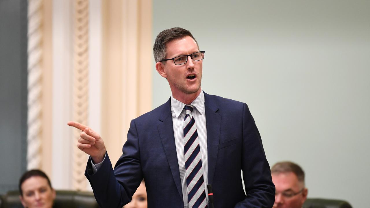 Queensland Transport Minister Mark Bailey was questioned about his involvement in the Gladstone Ports Corporation CEO recruitment process. Picture: NCA NewsWire / Dan Peled