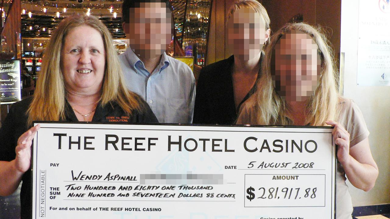 Wendy Aspinall pleaded guilty to fraud charges. She said she spent $2.9 million of the embezzled money at the Reef Hotel Casino. PICTURE: BRENDAN RADKE