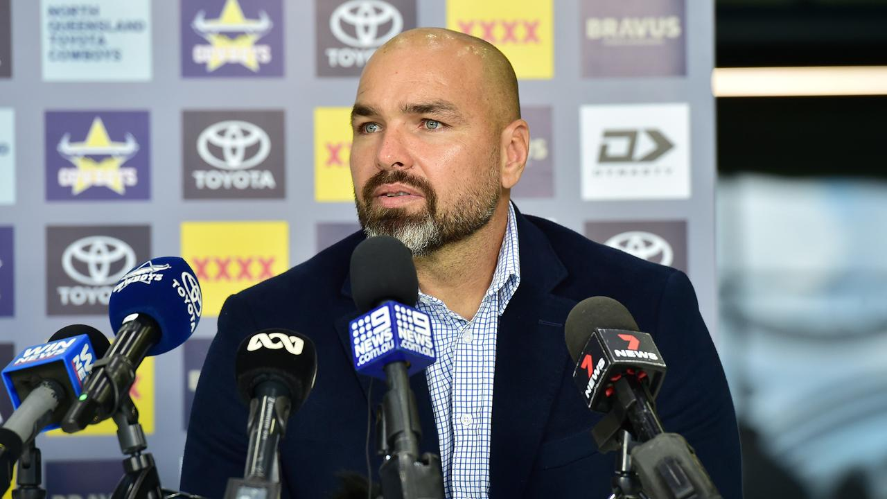 Coach Todd Payten has endured a difficult start with the Cowboys. Picture: Shae Beplate