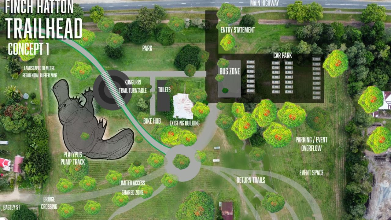 Finch Hatton trailhead concept one. Picture: Mackay Regional Council