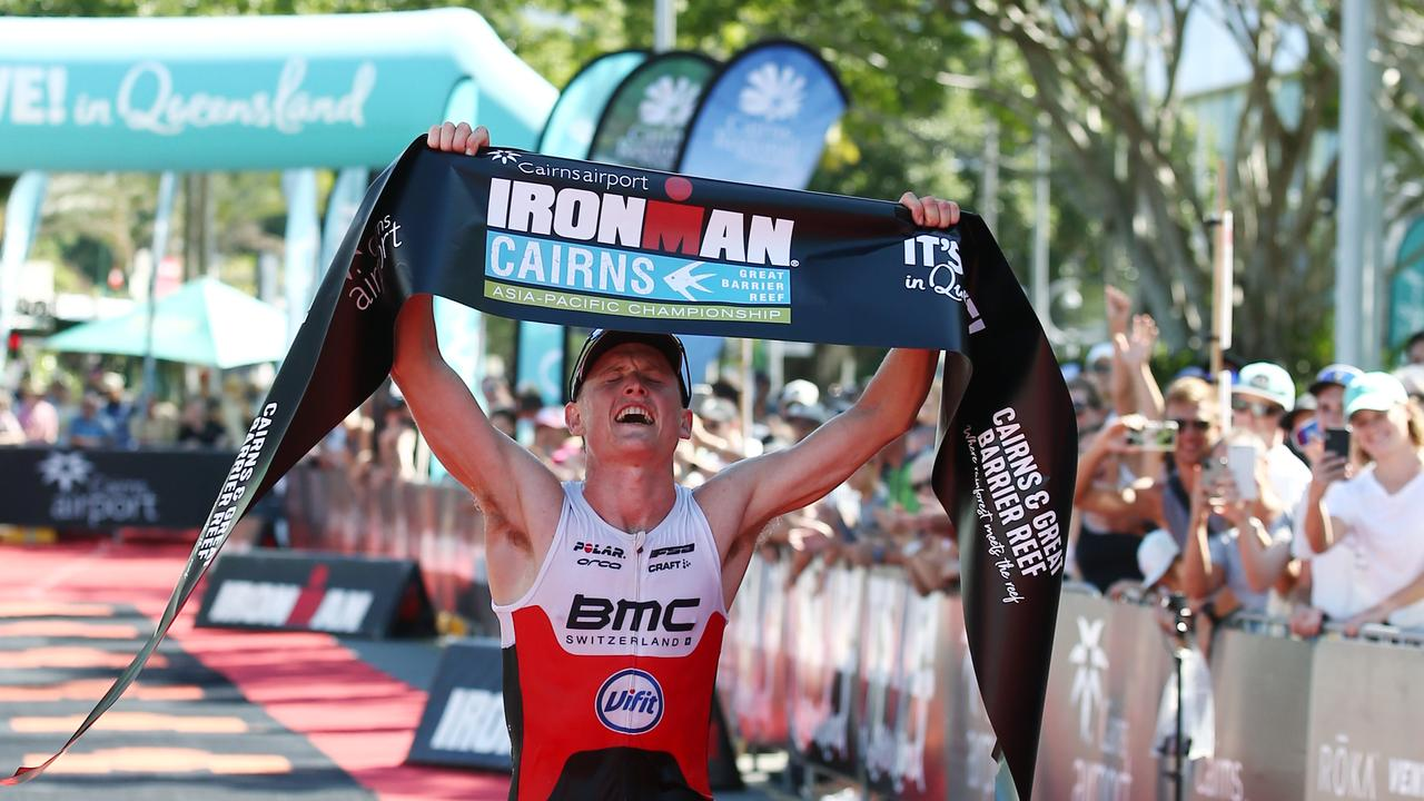 : Max Neumann wins the Ironman Cairns 2020 men's race. PICTURE: BRENDAN RADKE
