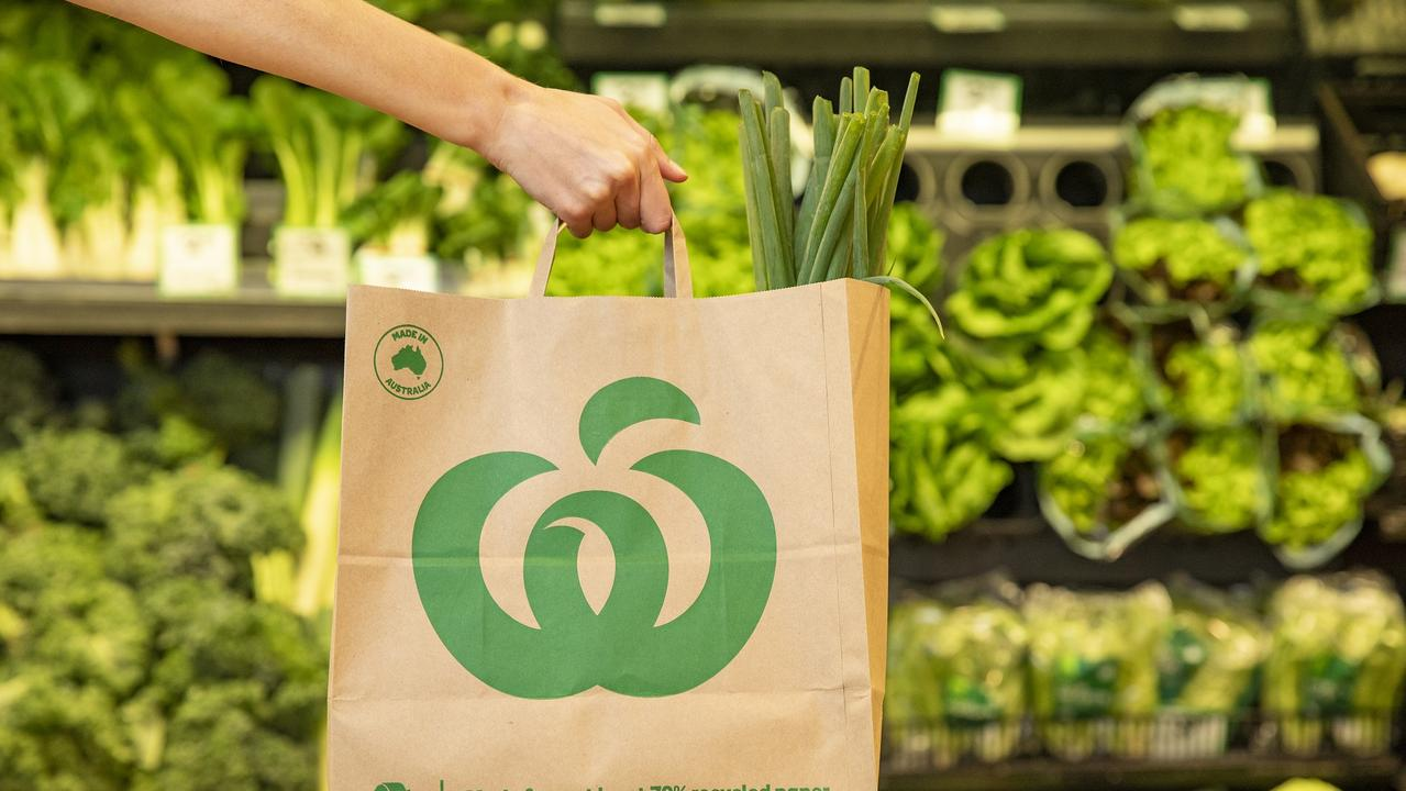 Woolworths has entered into a multi-million-dollar deal with the company Detpak to make bags domestically. Picture: Dallas Kilponen
