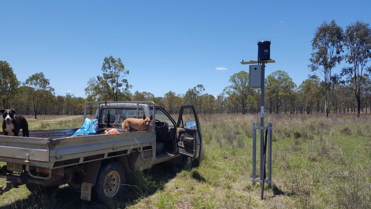 One of the 20 fully automated rain gauges being trialled by Queensland graziers in a bid to boost rainfall data across the state.