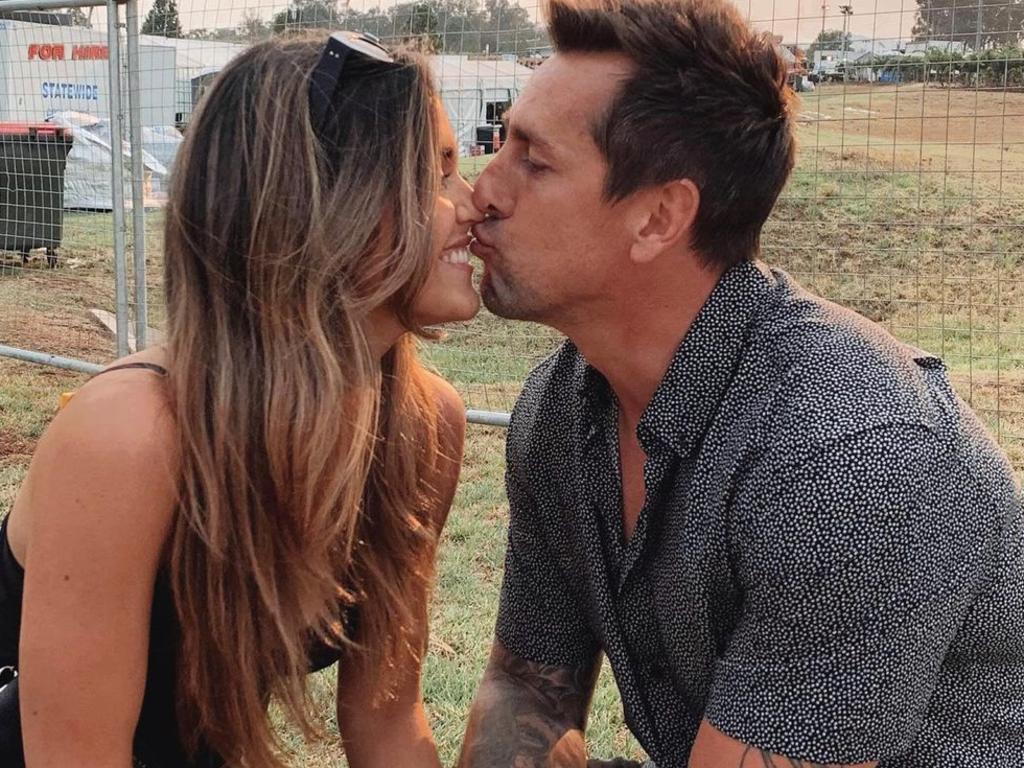 Mitchell Pearce and his partner Kristin Scott.