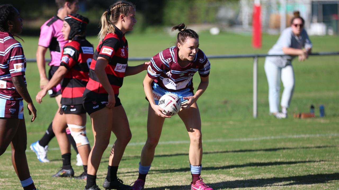 CQ Capras centre Jess Powell in the Round 1 clash with West Brisbane Panthers on Saturday. Photo: Colleen Edwards/QRL