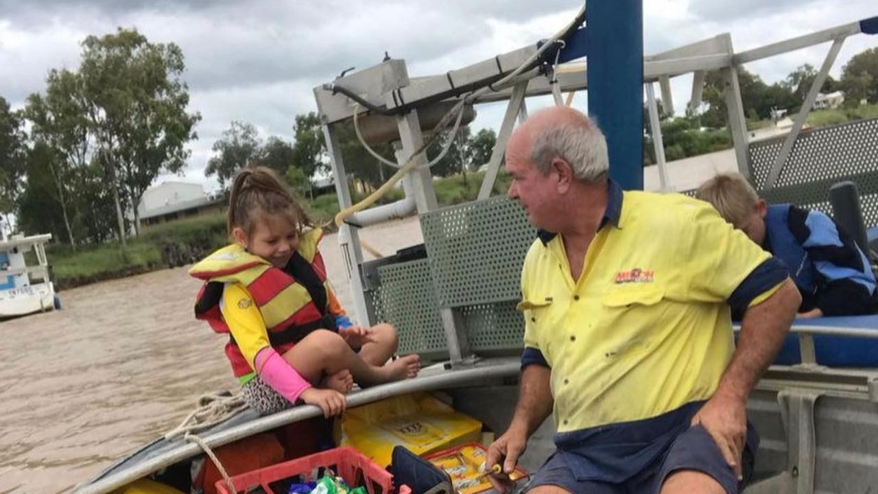 Mark Prosser and his granddaughter Charli-Rose enjoying time on the boat.