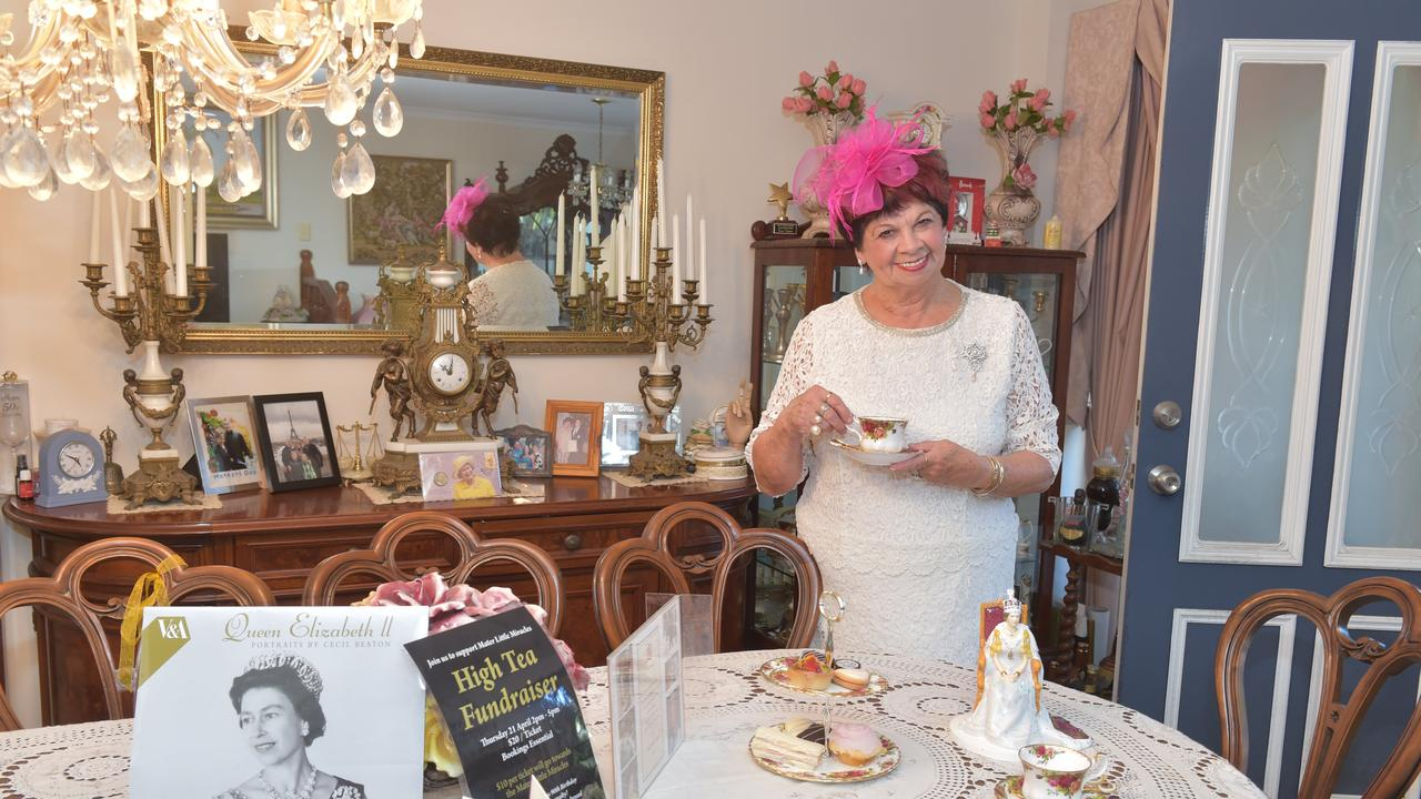Royal fan June Upton organised a high tea to celebrate the Queen's 90th birthday a few years ago. Picture: Warren Lynam