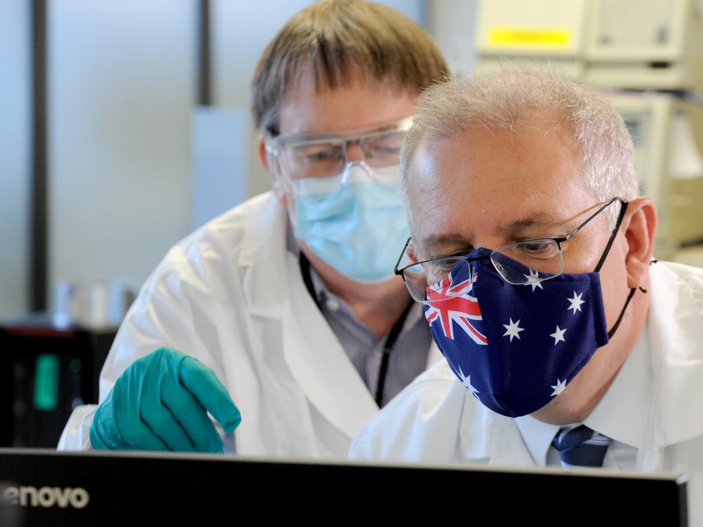 Scott Morrison has been criticised over Australia's vaccine rollout. Picture: NCA NewsWire