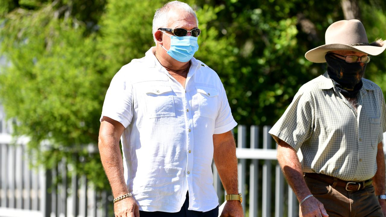 Chris Condon leaving the Townsville Courthouse. Picture: Alix Sweeney