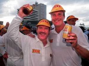 A cold beer with . . . cricket great with Broncos tip