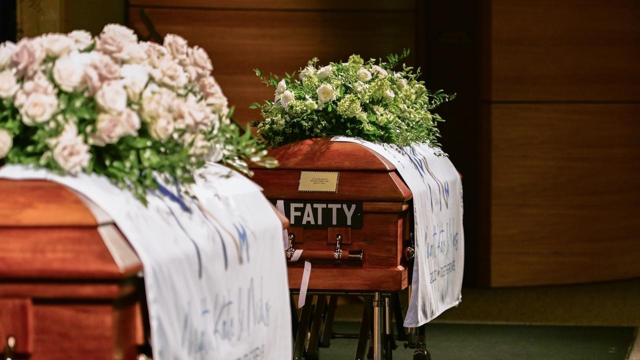 The funeral of Matthew Field and Kate Leadbetter. Picture: Queensland Police