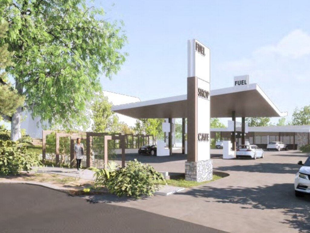 Artist impressions of a service station proposal for Yandina which was submitted to Sunshine Coast Council in January by Innovative Planning Solutions on behalf of Pearl Energy.