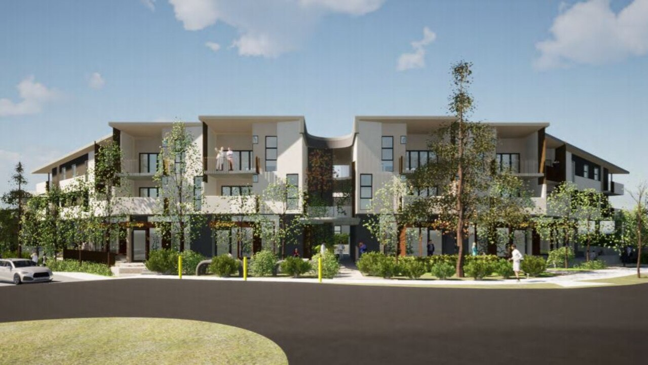 A development application has been lodged for Ridgeview Rd, Peregian Springs, for 38 units, four SOHO (small office home office) properties and two food and drink outlets.