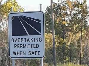 Incorrect overtaking signs removed from CQ Hwy
