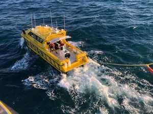 RACQ helicopter called for man with severe sea sickness