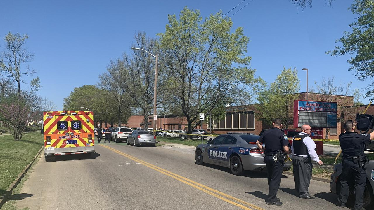 Multiple people, including a police officer, have been injured in a school shooting. Picture: Knoxville Police TC