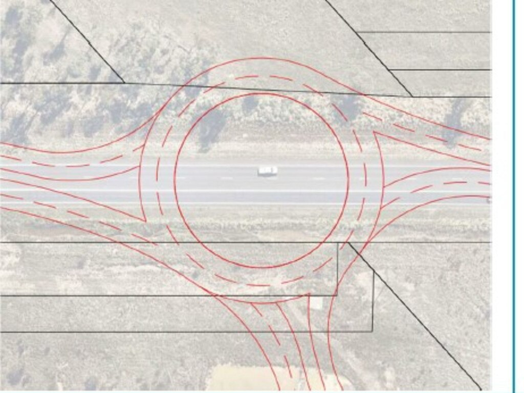 Roundabout concept for the entrance at Surf Lakes.