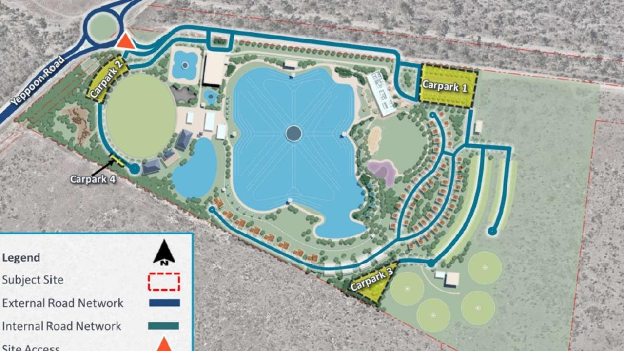 A concept design of the proposed development at Surf Lakes