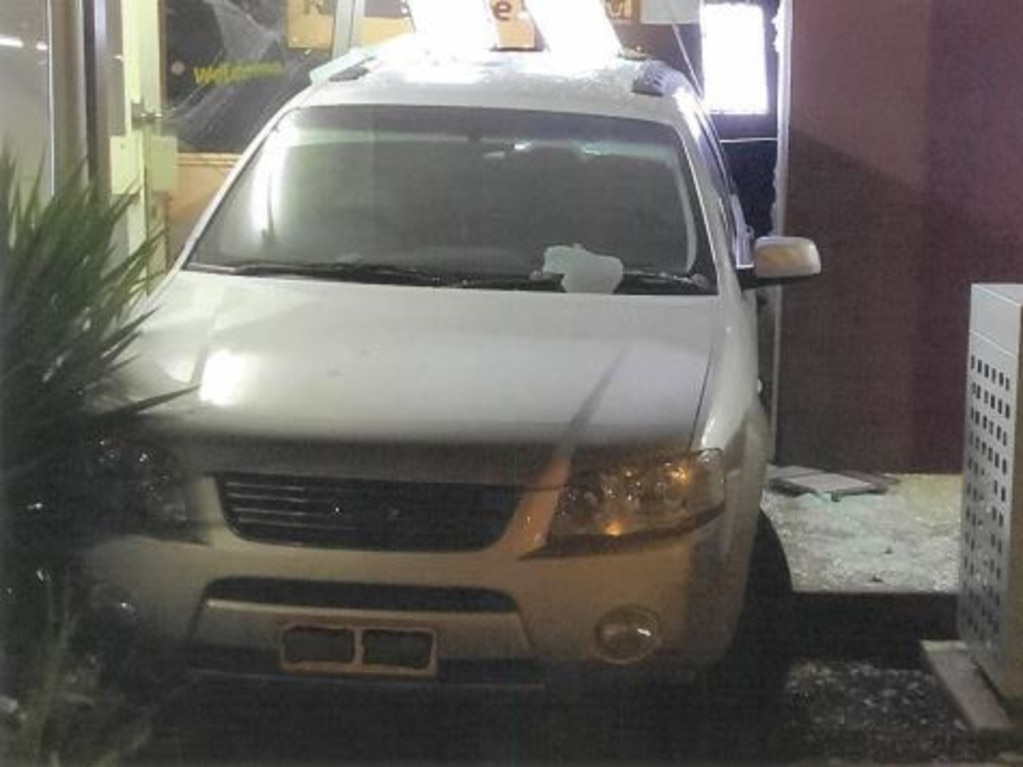 A Dalby man has been charged after he allegedly reversed his car into a shop on April 10. Picture: Contributed