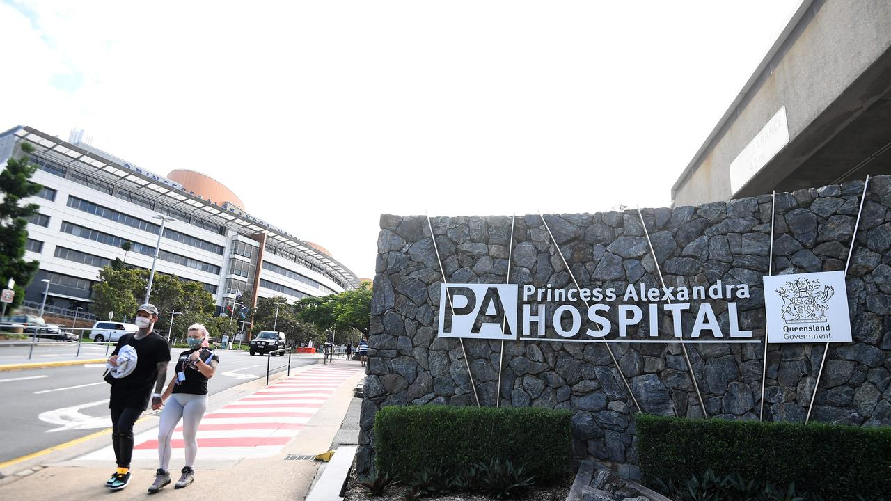 Further deep cleaning will be carried out at the Princess Alexandra Hospital after remnants of COVID-19 were found in a ward. Picture: NCA NewsWire / Dan Peled