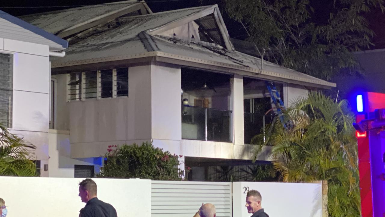 A fire broke out in an Okinja Road, Alexandra Headland home on Wednesday night.