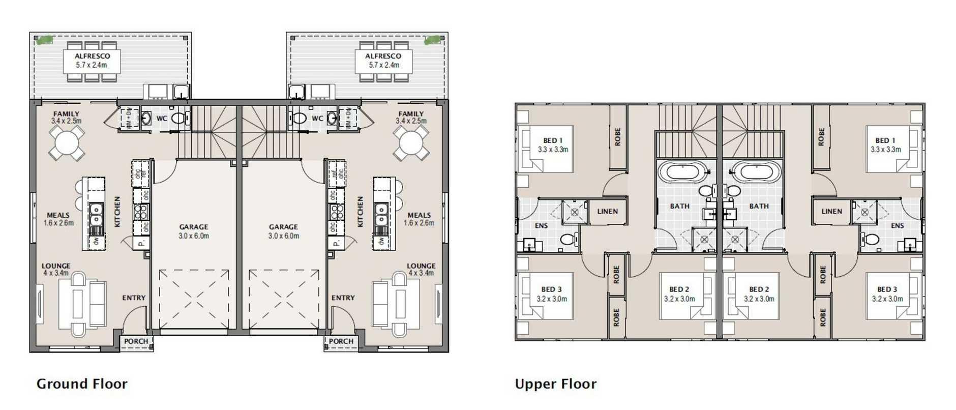 Floor plan of the Arthur St units.