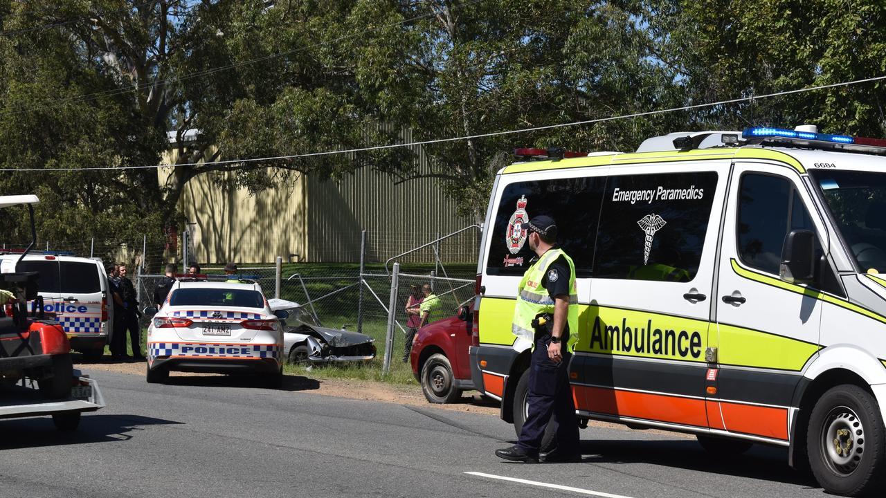 Single-vehicle crash on Creek Street at Bundamba