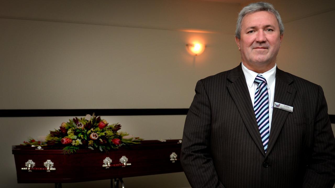 Colin Dean at Fitzroy Funerals. Picture: Allan Reinikka