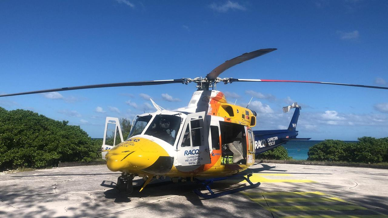 RACQ Capricorn Rescue was tasked to Heron Island after a woman, 26, required urgent transportation to hospital.