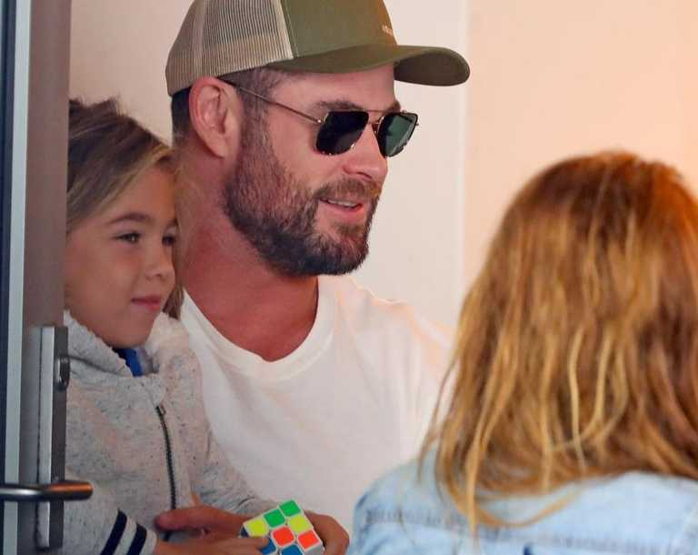 Chris Hemsworth has been spotted having a low-key catch-up with an Aussie actress who's another Hollywood success story.