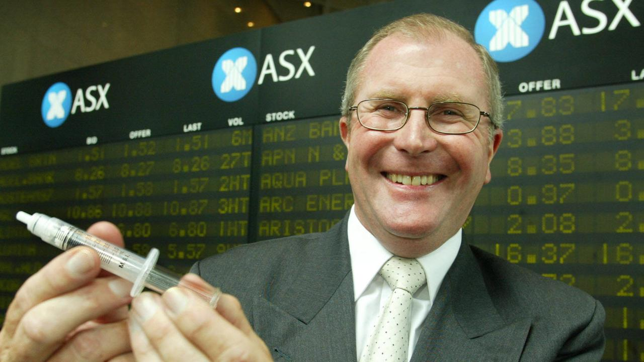Medigard's then CEO Peter Emery at the company's stock exchange listing in 2004.