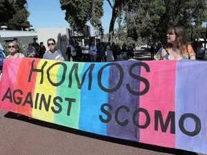 Violent 'Homos against ScoMo' protest