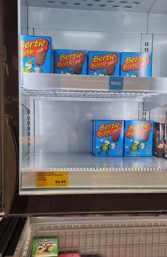 Bertie Beetle ice cream has arrived at Aldi. Picture: Facebook/Aldi Fans Australia.