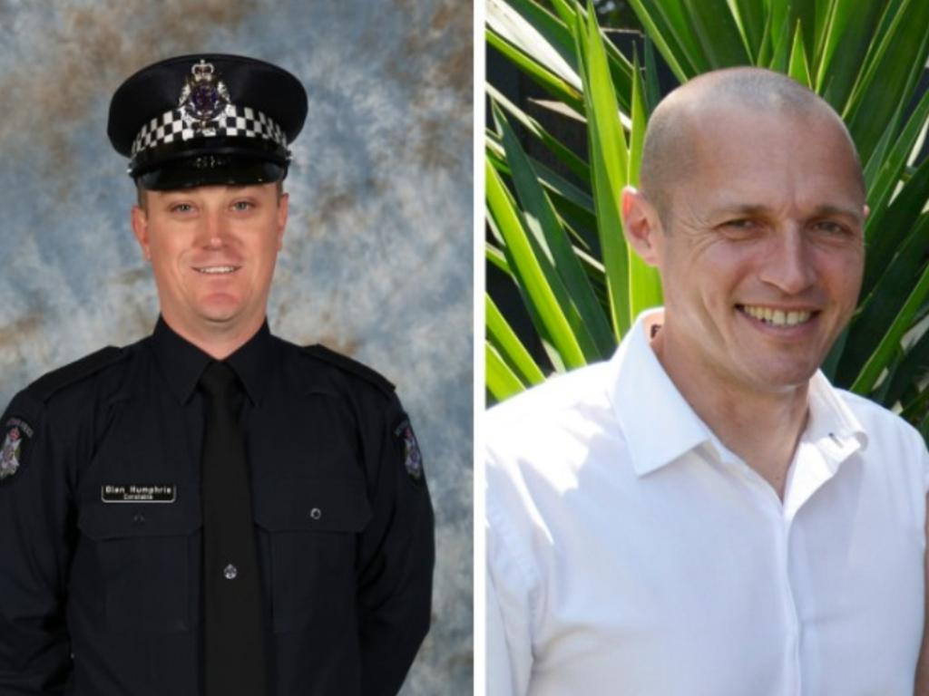 Constable Glen Humphris and Senior Constable Kevin King died in the horror crash on April 22, 2020.