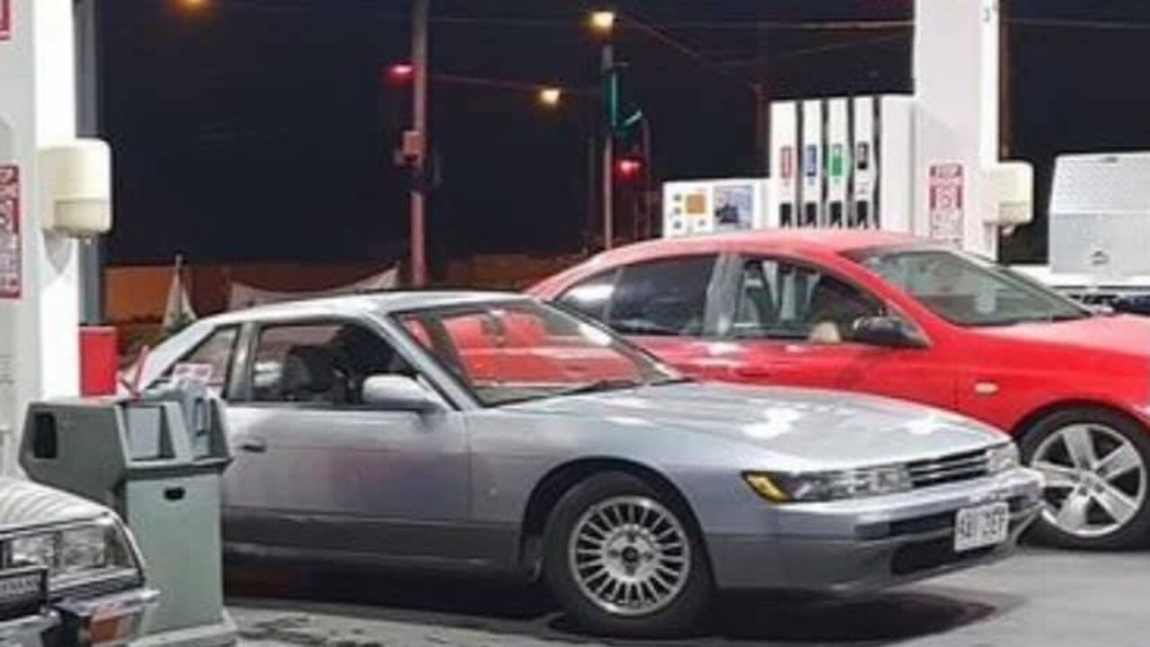 The 1993 silver Nissan Silvia was allegedly taken from a Silkstone service station early Wednesday morning. Picture: Madison Kohegyi