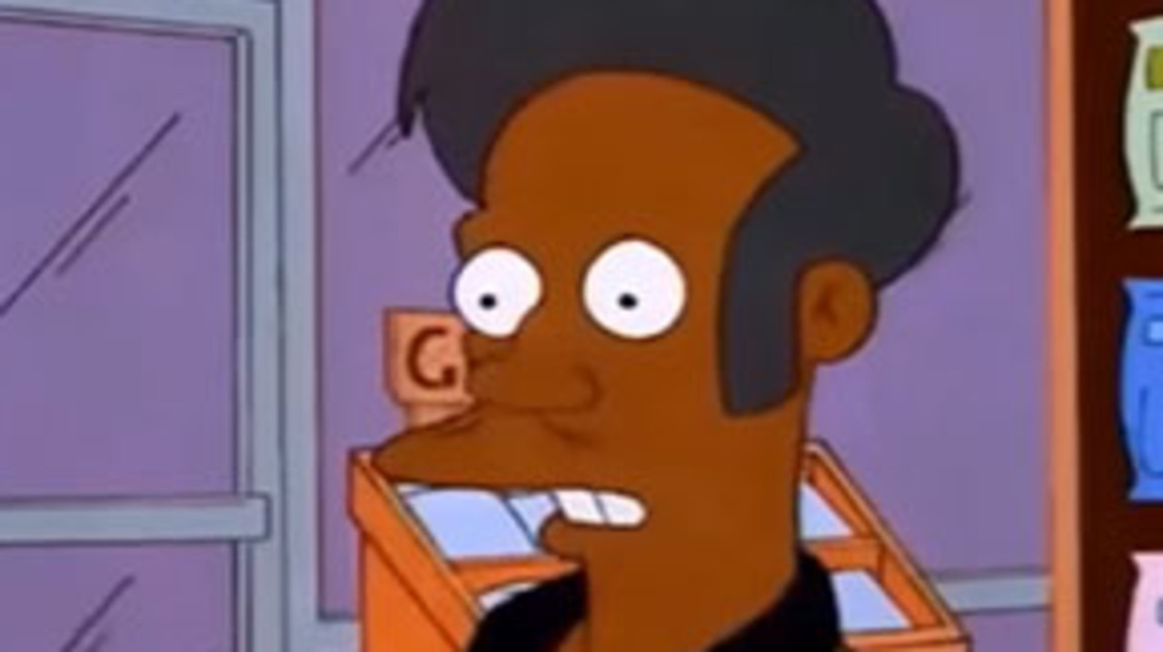 The Simpsons character Apu Nahasapeemapetilon became the centre of racial backlash.